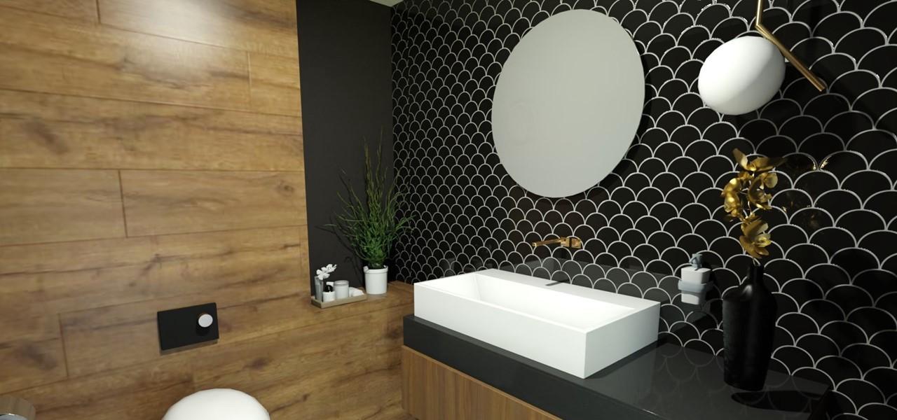 Décoration et agencement Institut de Nail Art à Marseille - Projet 3D pour l'agencement des toilettes clients, par Myll décors , Agence de décoration à Aix en Provence et dans le Var