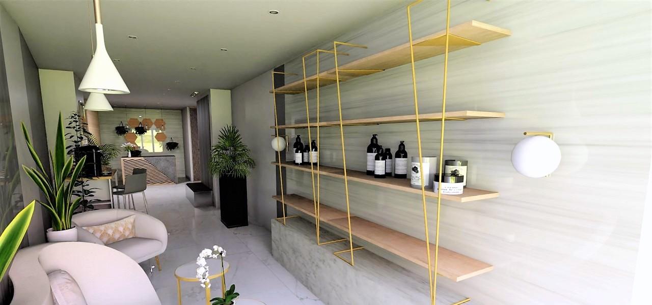Décoration et agencement Institut de Nail Art à Marseille - Projet 3D pour l'agencement du salon d'attente, par Myll décors , Agence de décoration à Aix en Provence et dans le Var