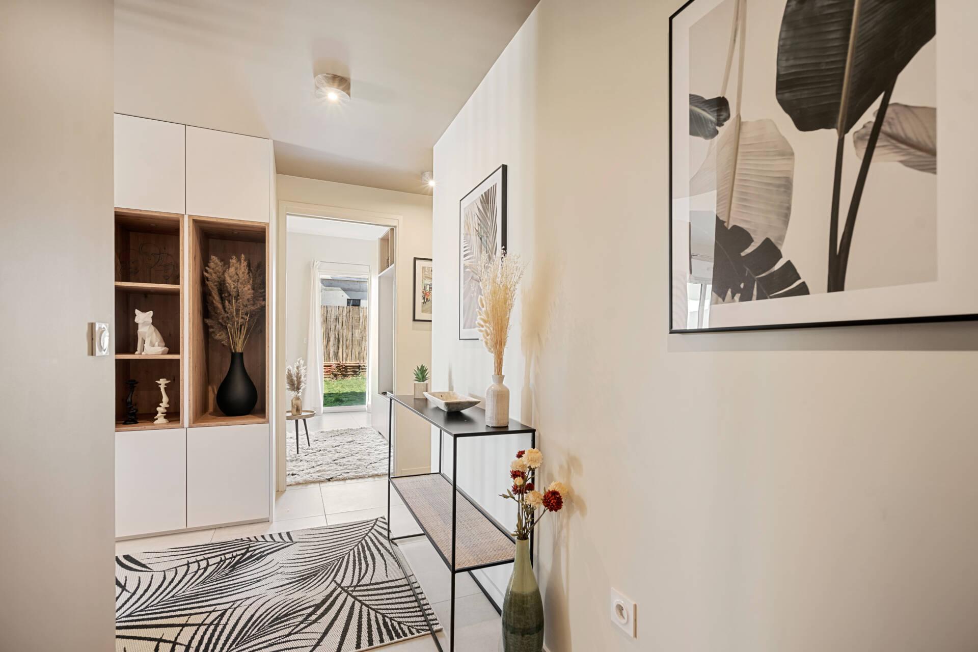 Décoration et agencement Appartement neuf Aix en Provence - Entrée, par Myll décors , Agence de décoration à Aix en Provence et dans le Var